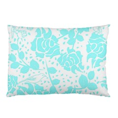 Floral Wallpaper Aqua Pillow Cases