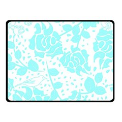 Floral Wallpaper Aqua Fleece Blanket (Small)