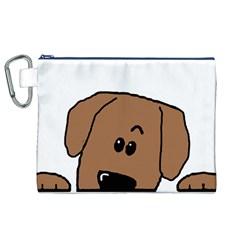 Peeping Dachshund Canvas Cosmetic Bag (xl)