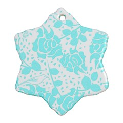 Floral Wallpaper Aqua Ornament (Snowflake)