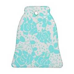 Floral Wallpaper Aqua Ornament (bell)