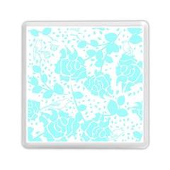Floral Wallpaper Aqua Memory Card Reader (Square)