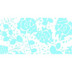 Floral Wallpaper Aqua You Are Invited 3d Greeting Card (8x4)