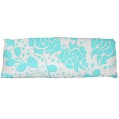 Floral Wallpaper Aqua Body Pillow Cases (Dakimakura)