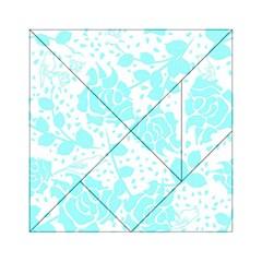 Floral Wallpaper Aqua Acrylic Tangram Puzzle (6  x 6 )