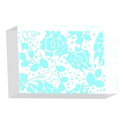 Floral Wallpaper Aqua 4 x 6  Acrylic Photo Blocks