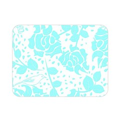 Floral Wallpaper Aqua Double Sided Flano Blanket (Mini)