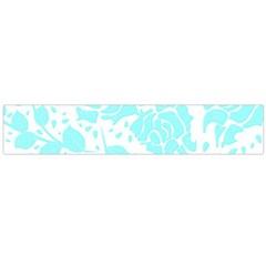 Floral Wallpaper Aqua Flano Scarf (large)