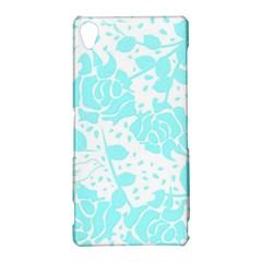 Floral Wallpaper Aqua Sony Xperia Z3