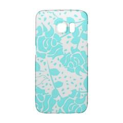 Floral Wallpaper Aqua Galaxy S6 Edge