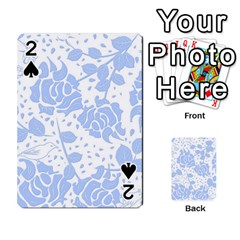 Floral Wallpaper Blue Playing Cards 54 Designs