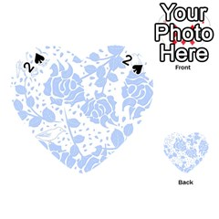 Floral Wallpaper Blue Playing Cards 54 (Heart)
