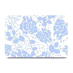 Floral Wallpaper Blue Plate Mats