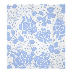 Floral Wallpaper Blue Shower Curtain 66  x 72  (Large)