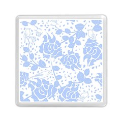 Floral Wallpaper Blue Memory Card Reader (square)