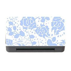 Floral Wallpaper Blue Memory Card Reader with CF