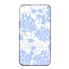 Floral Wallpaper Blue Apple iPhone 4/4s Seamless Case (Black)