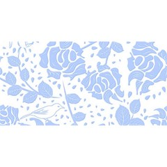 Floral Wallpaper Blue You Are Invited 3d Greeting Card (8x4)