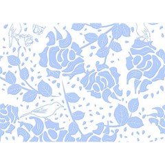 Floral Wallpaper Blue Birthday Cake 3d Greeting Card (7x5)