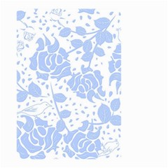 Floral Wallpaper Blue Small Garden Flag (Two Sides)