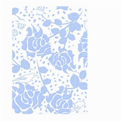 Floral Wallpaper Blue Large Garden Flag (two Sides)