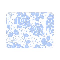 Floral Wallpaper Blue Double Sided Flano Blanket (mini)