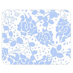 Floral Wallpaper Blue Double Sided Flano Blanket (Medium)