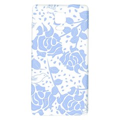 Floral Wallpaper Blue Galaxy Note 4 Back Case