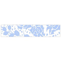 Floral Wallpaper Blue Flano Scarf (small)