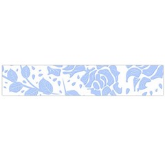Floral Wallpaper Blue Flano Scarf (Large)