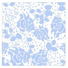 Floral Wallpaper Blue Large Satin Scarf (Square)