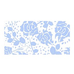 Floral Wallpaper Blue Satin Wrap