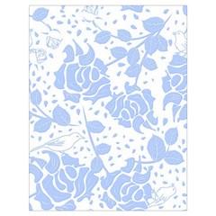 Floral Wallpaper Blue Drawstring Bag (Large)