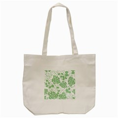 Floral Wallpaper Green Tote Bag (cream)