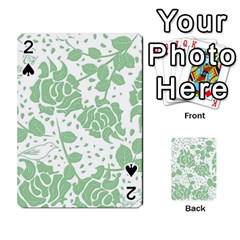 Floral Wallpaper Green Playing Cards 54 Designs