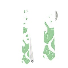 Floral Wallpaper Green Neckties (One Side)