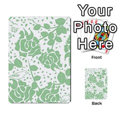 Floral Wallpaper Green Multi Purpose Cards (rectangle)