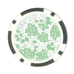 Floral Wallpaper Green Poker Chip Card Guards (10 Pack)
