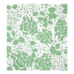Floral Wallpaper Green Shower Curtain 66  x 72  (Large)