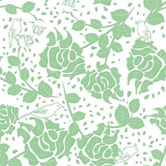 Floral Wallpaper Green Magic Photo Cubes