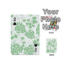 Floral Wallpaper Green Playing Cards 54 (Mini)