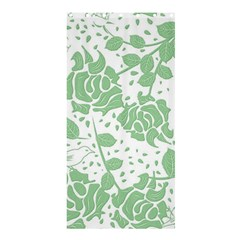 Floral Wallpaper Green Shower Curtain 36  X 72  (stall)