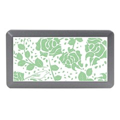 Floral Wallpaper Green Memory Card Reader (mini)