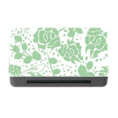 Floral Wallpaper Green Memory Card Reader with CF