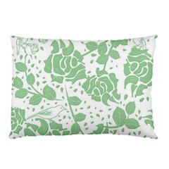 Floral Wallpaper Green Pillow Cases (Two Sides)