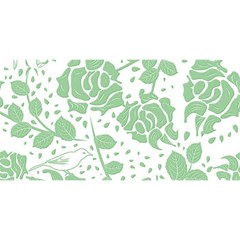 Floral Wallpaper Green YOU ARE INVITED 3D Greeting Card (8x4)