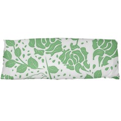 Floral Wallpaper Green Body Pillow Cases Dakimakura (Two Sides)