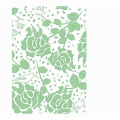 Floral Wallpaper Green Small Garden Flag (Two Sides)