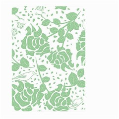 Floral Wallpaper Green Large Garden Flag (Two Sides)