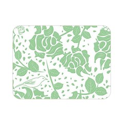 Floral Wallpaper Green Double Sided Flano Blanket (Mini)
